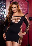 Single Lady Mini Dress - Black - Plus