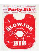 Candy Prints Blow Job Bib - Red