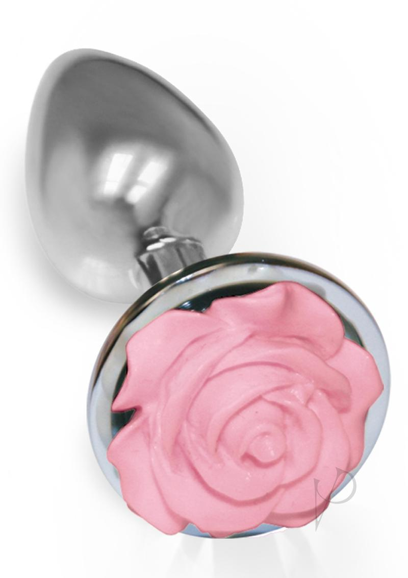 The 9 Silver Starter Rose Steel Plug Pink Anal Plug Non Vibrating