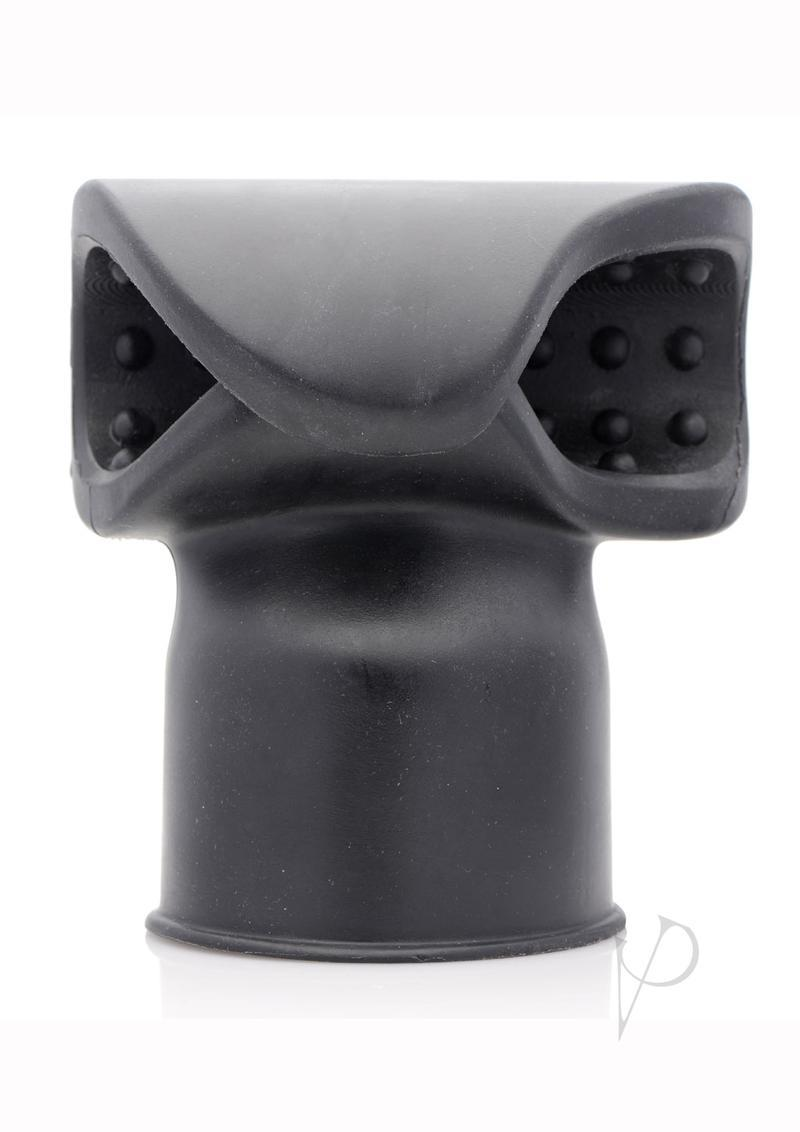 Master Series Thunder Wrap Masturbator Wand Attachment Black 4.6 Inches
