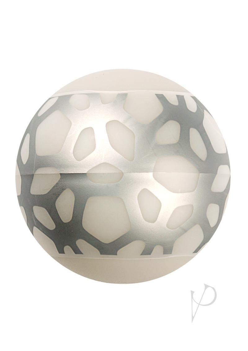 Linx Geo Stroker Ball Masturbator Ribbed Textured Waterproof Clear