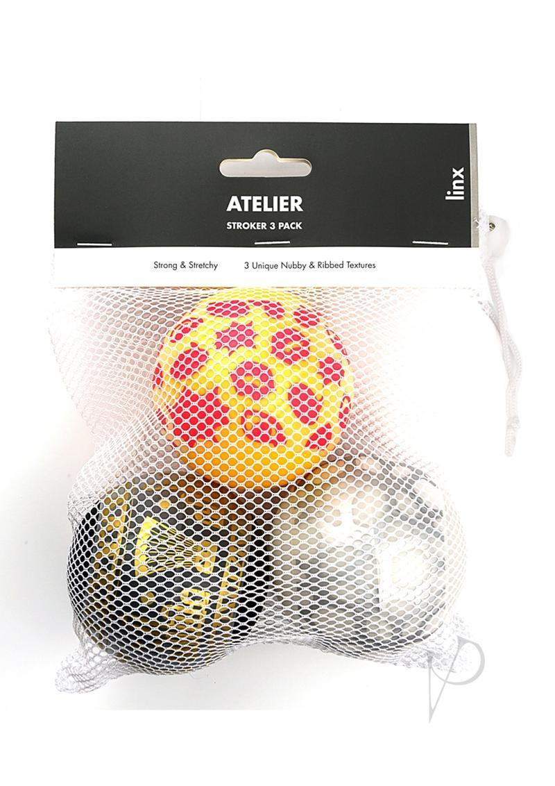 Linx Atelier Stroker Ball Masturbator 3-pack Nubby And Ribbed Texture Waterproof