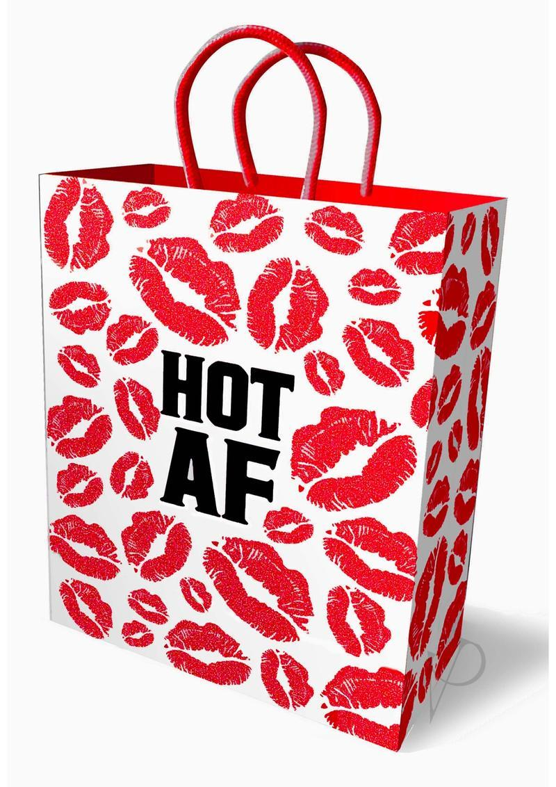 Hot Af Gift Bag Red And White