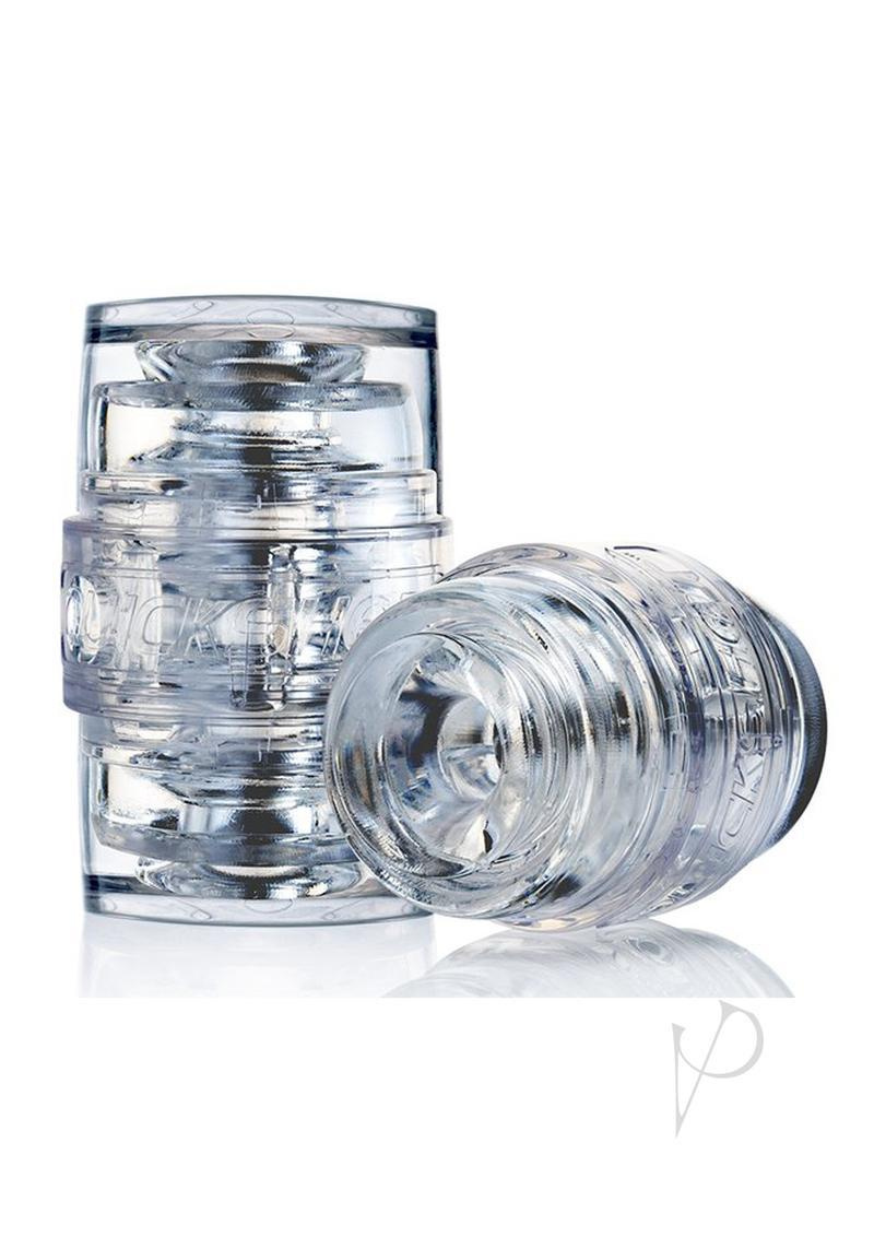 Fleshlight Quickshot Pulse Textured Stroker Masturbator Clear
